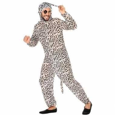 Dierenkostuum verkleed kostuum dalmatier hond voor volwassenen
