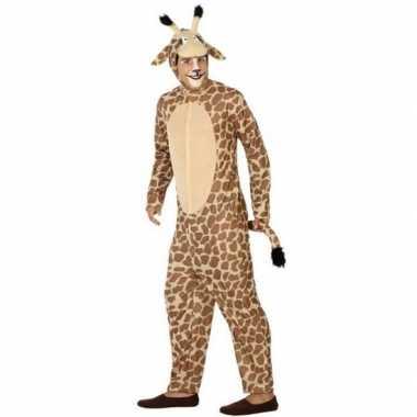 Dierenkostuum verkleed kostuum giraffe voor volwassenen