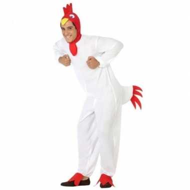 Dierenkostuum verkleed kostuum kip/haan voor volwassenen