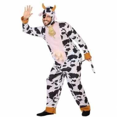 Dierenkostuum verkleed kostuum koe voor volwassenen