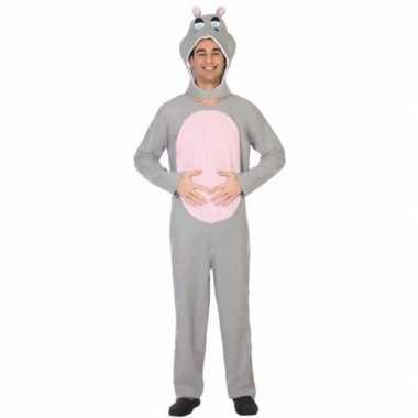 Dierenkostuum verkleed kostuum nijlpaard voor volwassenen