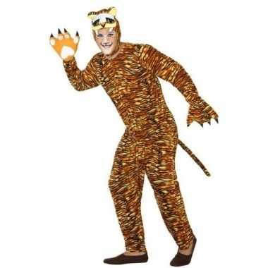 Dierenkostuum verkleed kostuum tijger voor volwassenen