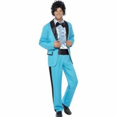 Disco carnavalskostuum blauw heren