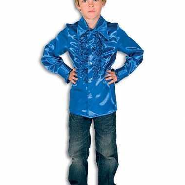 Disco shirt kobaltblauw voor jongens