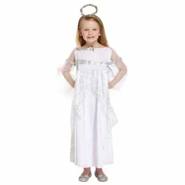 Engel kerst kostuum kostuum wit voor meisjes