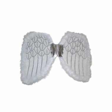 Engelen verkleed vleugels wit 36 cm
