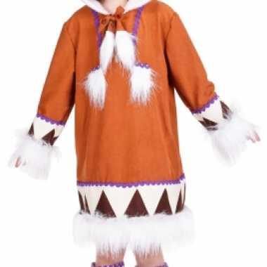 Eskimo kostuum met laarshoezen voor meisjes