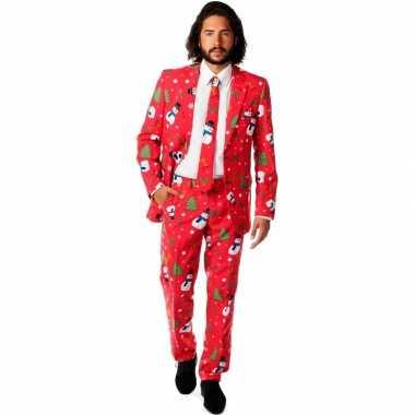 Feest kostuum kerstmis print