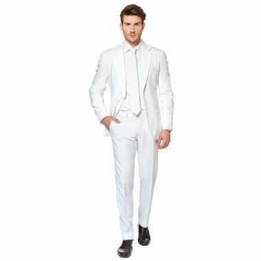 Fel wit kostuum kostuum voor heren