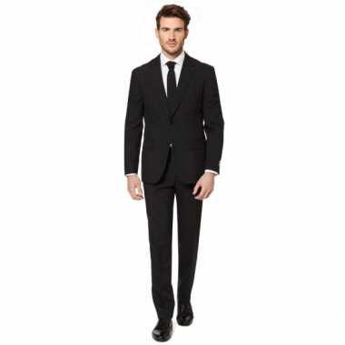Fel zwart kostuum kostuum voor heren