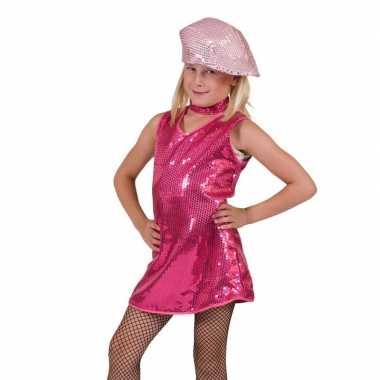 Fuchsia glitter jurk voor meisjes