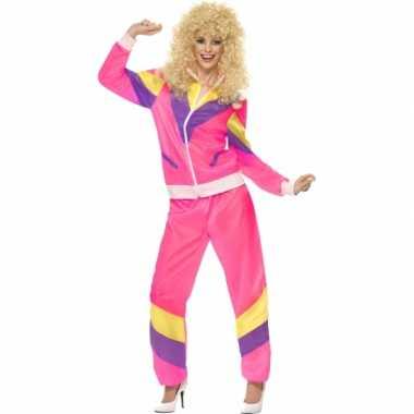 Gekleurde jaren 80 trainingskostuum
