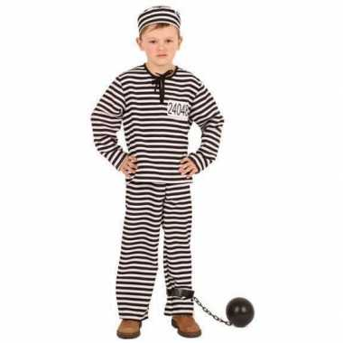 Gestreept gevangene kostuum kinderen