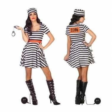 Gevangene/boef bonnie verkleed kostuum/jurk voor dames