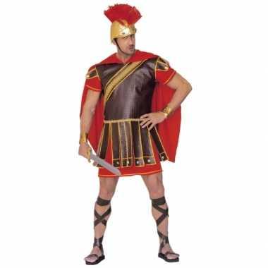 Gladiator kostuum rood bruin heren