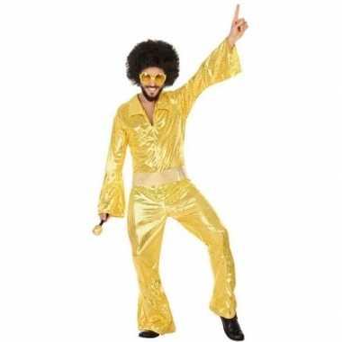 Gouden disco verkleed kostuum/kostuum voor heren