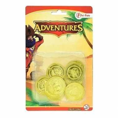 Gouden piraten speelgoed munten