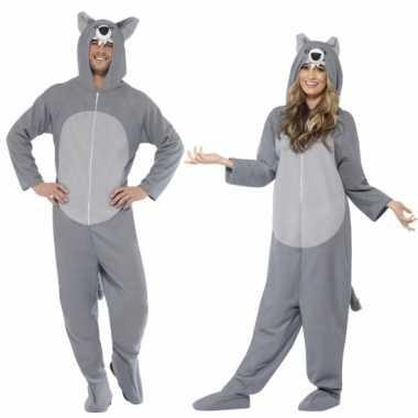 Grijze wolf kostuum