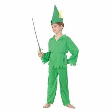 Groen elfjes kostuum voor jongens