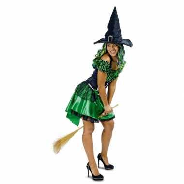 Groene heks alexia verkleed kostuum/jurk voor dames
