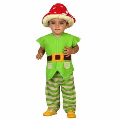 Groene kabouter kostuums voor peuters