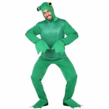 Groene kikker dieren verkleedkostuum voor volwassenen
