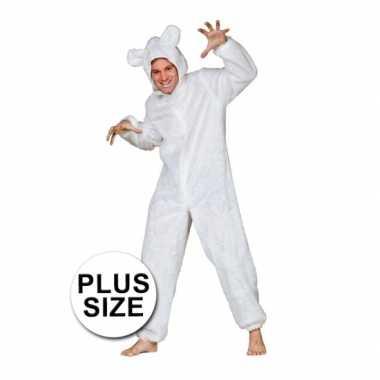 Groot ijsberen kostuumje voor volwassenen