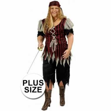 Grote maat dames piraten kostuum
