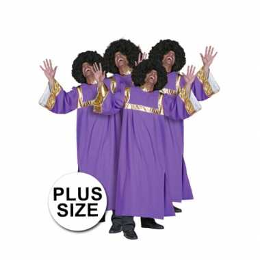 Grote maat gospel carnavalskostuum