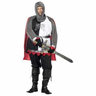 Grote maat middeleeuwse krijgsman kostuum