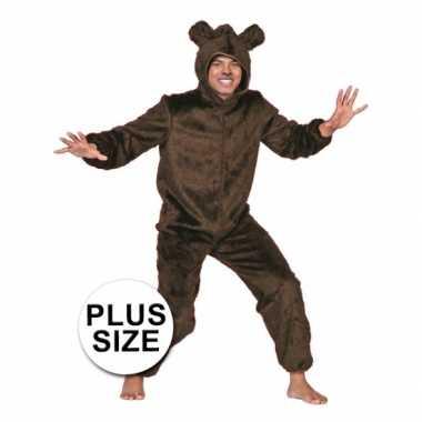 Grote maten berenkostuum bruin