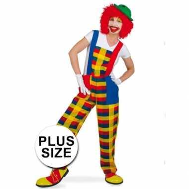 Grote maten clown pebbi verkleedkostuum voor volwassenen