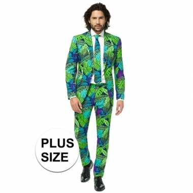 Grote maten heren verkleed kostuum/kostuum jungle print