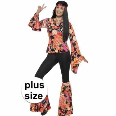 Grote maten hippie kostuum willow voor dames