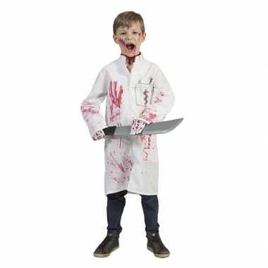 Halloween bloederige doktersjas voor jongens
