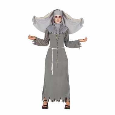 Halloween grijze geest nonnen kostuum voor dames