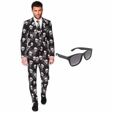 Halloween heren kostuum maat 56 (xxxl) met gratis zonnebril