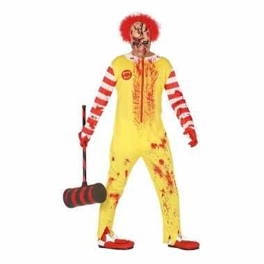 Halloween horror clown ronald verkleed kostuum voor heren