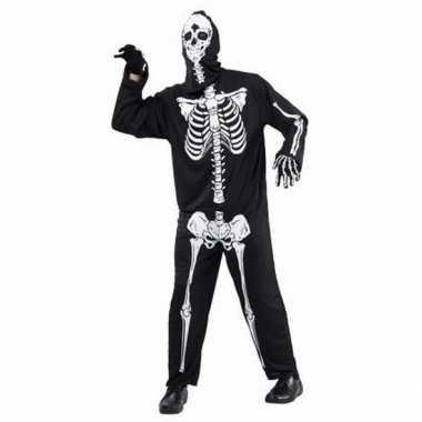 Halloween horror skelet kostuum voor volwassenen