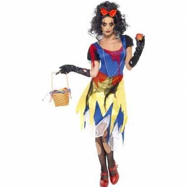 Halloween horror sneeuwwitje kostuum voor dames