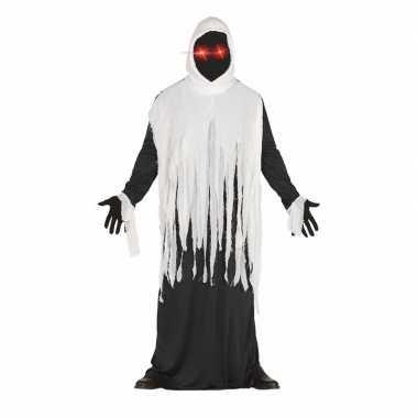 Halloween horror spook kostuum met lichtgevende ogen