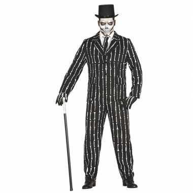 Halloween luxe 3 delig skeletten kostuum voor heren