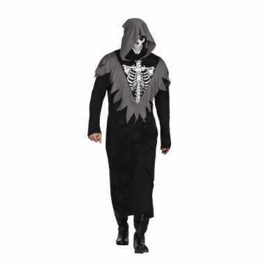 Halloween skelet bewaker kostuum