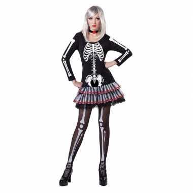 Halloween skelet verkleed kostuum voor dames