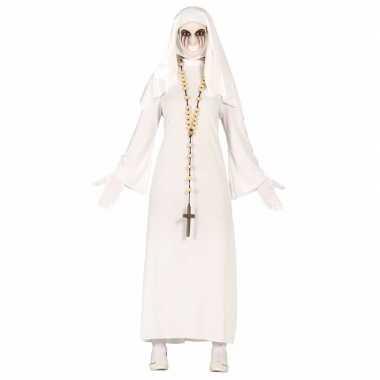 Halloween spookachtige nonnen kostuum voor dames