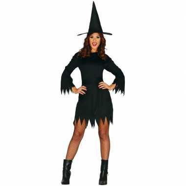 Halloween zwart heksen kostuum budget voor dames