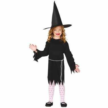 Halloween zwart heksen kostuum budget voor meisjes