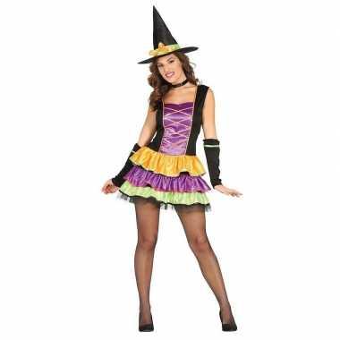 Halloween zwart heksen kostuum voor dames