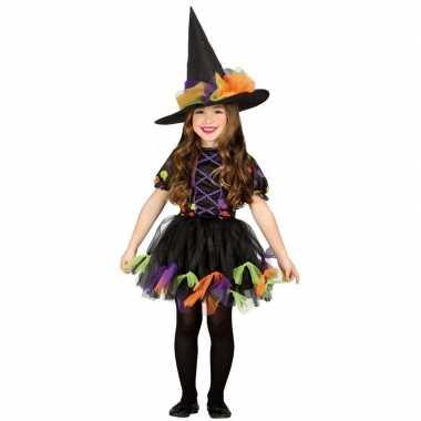 Halloween zwart heksen kostuum voor meisjes