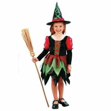 Heksen carnavalskostuum meisje